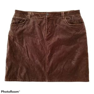 Tommy Hilfiger brown velvet stretch mini